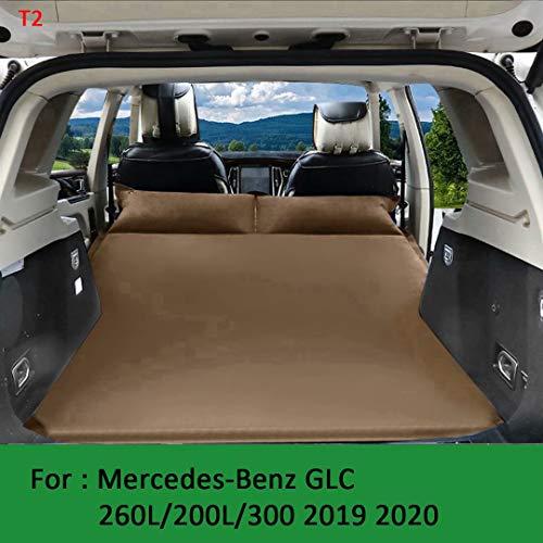 QCCQC Geeignet für Mercedes-Benz GLC Auto automatisches aufblasbares Bett 2019 2020 faltbares Kofferraum-Luftkissenbett 260L / 200L / 300 Luftmatratze, Braun, T2