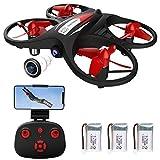 Makerfire Mini Drone for Kids 2.4G WiFi FPV Drone con videocamera 720P WiFi Trasmissione in Tempo...