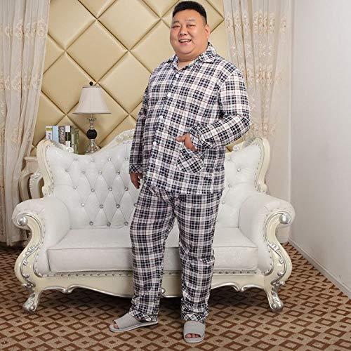 KTUCN Große Größe Fat Guy Home Kleidung Pyjama Homme Set, Herren Baumwolle Dünn...