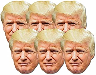 STAR CUTOUTS SMP366 Fun Cardboard Six Pack of Face Masks of Donald Trump. Great Talking Point, Fun for Events and Parties. Hand/A
