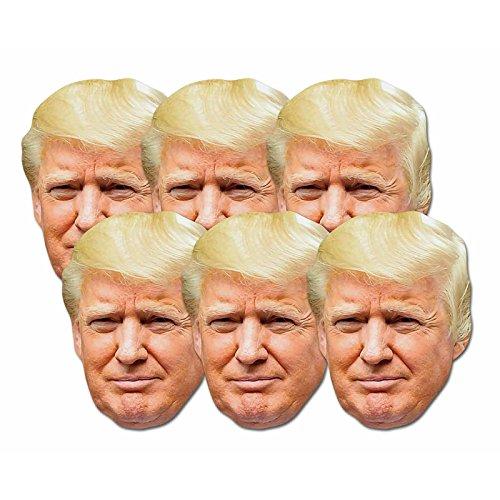 Star Cutouts SMP366divertimento cartone da pezzi maschere di Donald Trump. Great Talking Point, divertimento per eventi e feste. Hand/a
