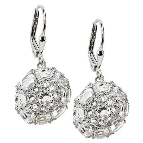 Yvesse Damen-Ohrhänger aus Silber 925 mit Bergkristall