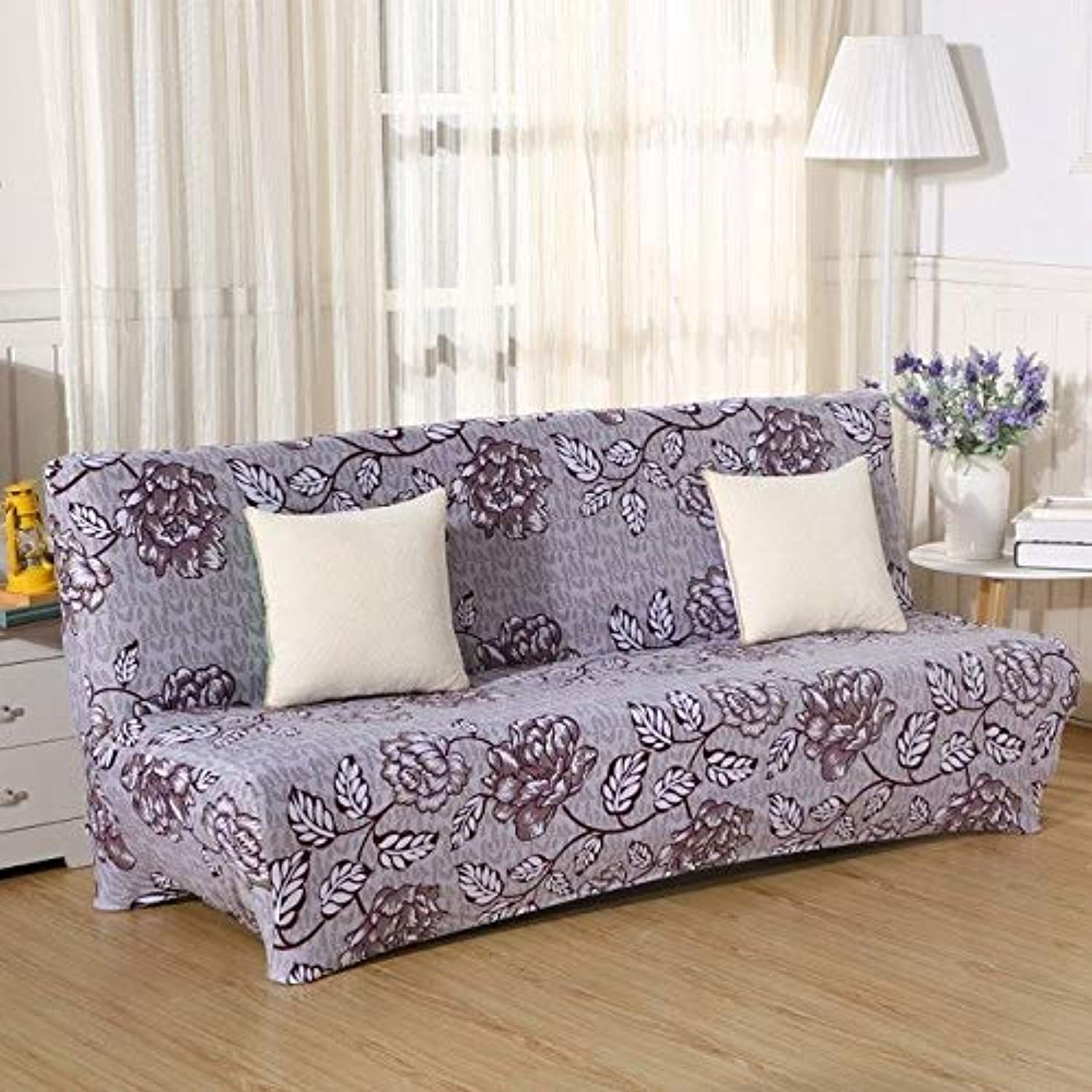 Farmerly Modern Without Armrest Sofa Cover Multifunction Sofa Slipcover Big Elastic Fabric Anti-Mite 160-210cm bluee Star Sofa Bed Covers   08, 160-195cm