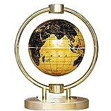 6 Pulgadas Globos del Mundo con Luces Color LED,Amarillo Mapa del Mundo Magnetico para Uso Familiar