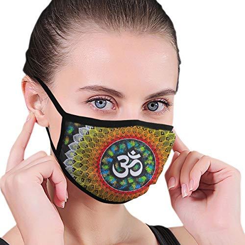 Cobertor facial Mandala meditación, arco iris, fundas lavables y reutilizables