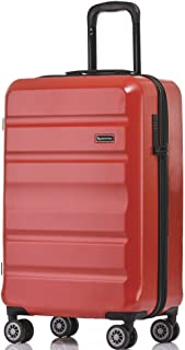 QANTAS Melbourne 56cm Wheelaboard Carry-on, (Red), (QF970-56-R)