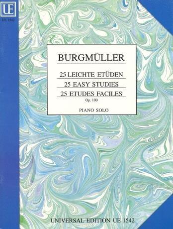 25 leichte Etüden op. 100 für Klavier by Frédéric Burgmüller (1907-09-05)