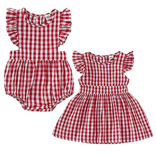 Tianhaik Conjunto de ropa a juego para niñas grandes y hermanas, pele