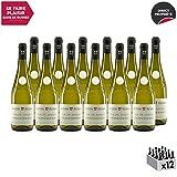 Vin de Savoie Grande Réserve Chardonnay Blanc 2018 - Maison Perret - Vin AOC Blanc de Savoie - Bugey - Cépage Chardonnay - Lot de 12x75cl