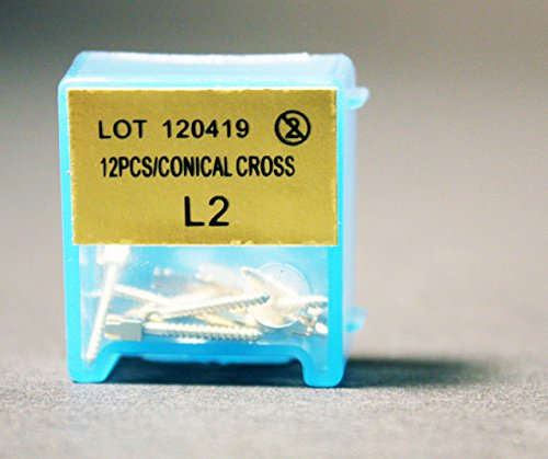 Nordin Dental HN-L2 Swiss Made Gold plated Conical cross head Screw Post L2 12/pk