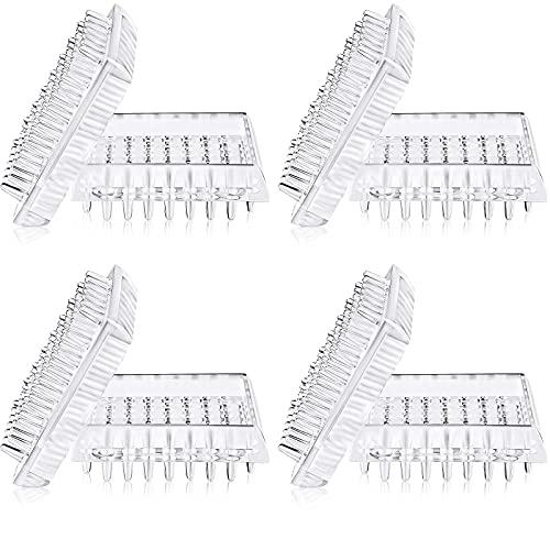 8 Stück Teppichschoner mit Spikes, transparente Kunststoffuntersetzer für Sofas, Tische, Stühle und andere Möbel (quadratische Form)