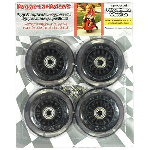 Wiggle Car Polyurethane Replacement Wheels - Black