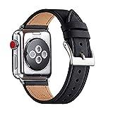 QAZNZ Bracelet Compatible pour Apple Watch 40mm 38mm 44mm 42mm ,Cuir de Sangle Remplacement...
