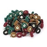 80 pièces 1 pouce de roue abrasive de polissage, roue abrasive de polissage de polissage pour le meulage et le polissage