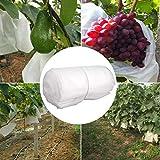 SINGFNH 50 bolsas de protección para frutas de jardín, 18 x 17 cm, bolsas de tela no tejida para árboles frutales, tomates melocotones protege la bolsa de red de insectos de aves