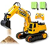 Gili RC Excavator Toy, Remote Control Hydraulic Toy Car for 4, 5, 6, 7, 8 Year Old Boys Girls, Construction Tractor Vehicle, Rechargable Engineering Digger Truck, Best Birthday Gifts for Kids Age 3yr