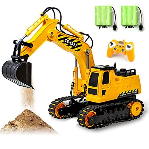 Gili RC Excavator Toy, Remote Control Hydraulic...