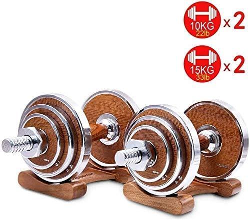 Pesas con mancuernas de fitness Tnp ajustable Conjunto grande de la pesa de la correa Conector de formularios de la manija de madera con barra Inicio entrenamiento de la aptitud del estante levantamie