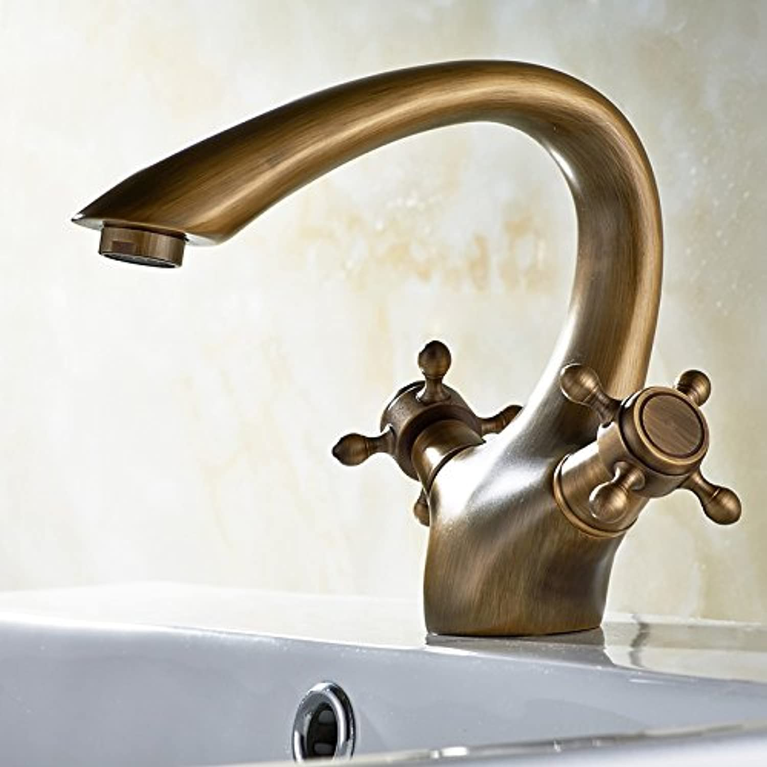 LHbox Basin Mixer Tap Bathroom Sink Faucet The brass taps, basin single hole antique faucet, toilet and wash basin basin cold water tap.