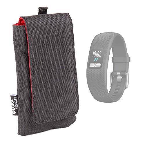 DURAGADGET Custodia Imbottita Nera per Bracciale Fitness Garmin Vivofit 4 / vívofit jr. 2 / Approach X10 / vivosport   MGCOOL Band 4 / Band 5   Fitbit Ace   Xiaomi Amazfit Cor/Mi Band 3
