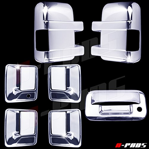 A-PADS Chrome Covers Combo Set for Ford SUPER DUTY F250 F350 2008-2016 - Full...