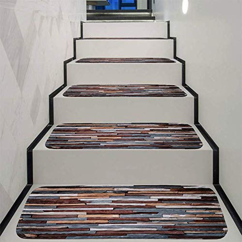 SHEHUIREN Treppen Matte gesprenkelt Stein nach Hause Schlafzimmer Haustür rutschfeste hochwertigen Korallen Samt modernen minimalistischen 22 * 70cm