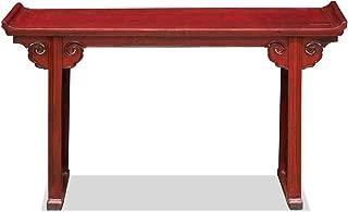 ChinaFurnitureOnline Vintage Red Elmwood Cloud Altar Console Table
