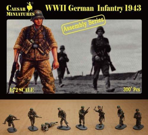 Figurines 2ème Guerre Mondiale : Panzergrenadiers SS 1943