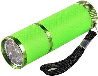 Anself Mini luz de flash para LED UV Gel Lámpara de curado Luz Secador de uñas portátil Linterna de uñas 9 LED 395nm Detector de linternas UV para máscara facial