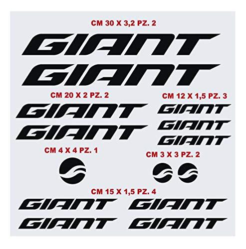 Giant Aufkleber-Set für Fahrrad, kompatibel mit MBK Fahrrad-Aufklebern, Farbe wählbar, Artikelnummer: 1423 (070 Schwarz)