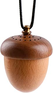 Wooden Essential Oil Car Diffuser Aromatherapy Essential Oil Perfume Acorn Car Diffuser Hang Decoration
