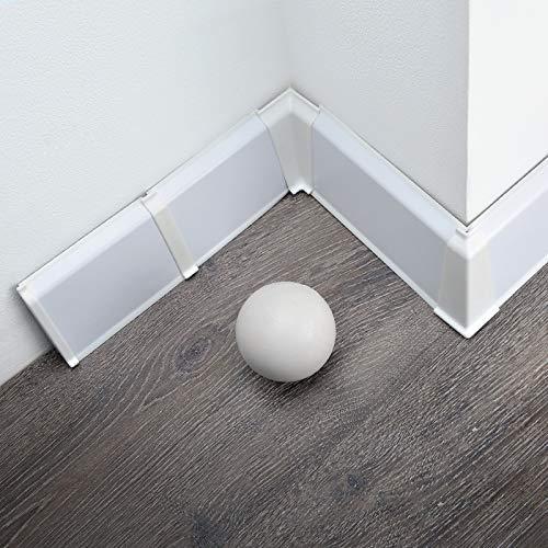 [DQ-PP] Außenecke 70mm PVC Weiß Laminatleisten Fussleisten aus Kunststoff PVC Laminat Dekore Fußleisten