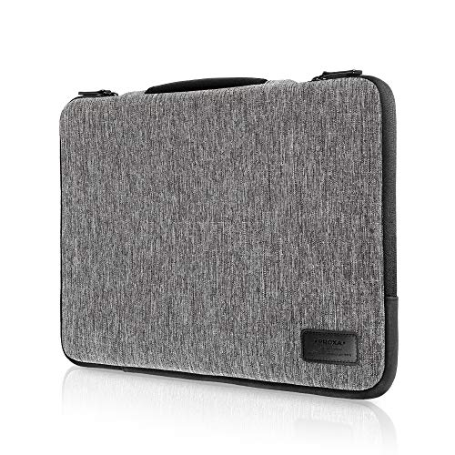 """PROXA Laptop Sleeve for 16"""" Laptop, Water Resistant Shock Absorbent Dual Layer Carrying Case with Handle, Side Pocket for MacBook Pro 16 2020, ASUS ROG, Razer Blade, MSi Stealth (16', Space Grey)"""