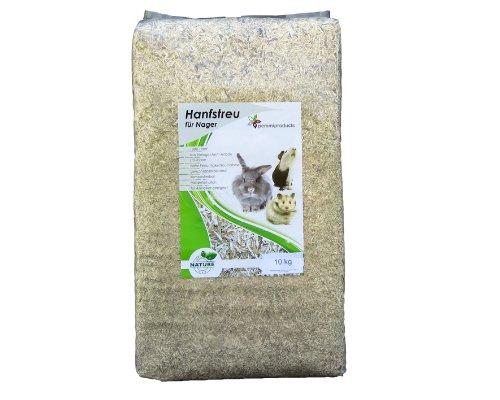 Hanfeinstreu 90 Liter, ( EUR 0,21/Liter), Einstreu aus 100 % Hanf geeignet als Käfig Bodenbedeckung für Kaninchen, Meerschweinchen, Hamster, Degus, Ratten und andere Nagetiere, ebenso geeignet für Sch