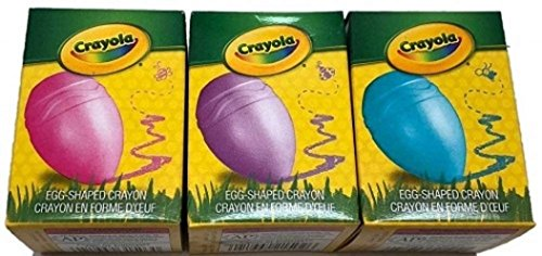 Crayola My First Crayons Egg Shaped Easy Palm-Grip for Toddlers 3 Individual Boxes