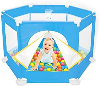 LXJJGF Baby Fence  Children s Play House  Baby Toddler Guardrail Fence  Marine Ball Baby Game Protective Fence Basket  excluding Ball
