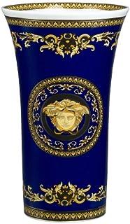 Rosenthal–Versace/Medusa Blue/jarrón/Azul, Oro, Negro/porcelana