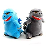 10 / 20cm Nuevo Dibujos animados Godzillas Peluche Toys King Kong Mono Relleno Soft Animal Dino Almohada Juguete Niños Niños Cumpleaños Regalo - 10cm - 2Pcs a set