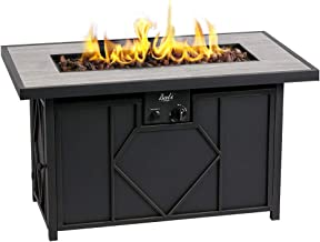 BALI OUTDOORS Fire Pit Propane Gas FirePit Table Rectangular Tabletop 42in 60,000BTU