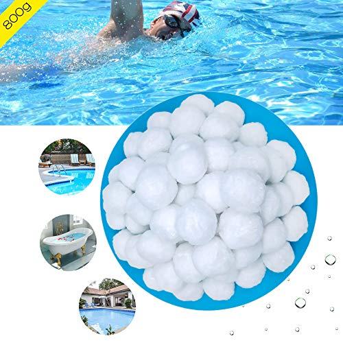 showll Filter Balls filterbälle Pool Balls Filtermaterial 800g ersetzen 29 kg Filtersand, Filterpumpe, Aquarium Sandfilter,filterballs für sandfilteranlagen