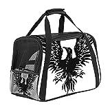 Bolsa De Transporte para Mascotas Fénix Animal Negro Bolsa De Viaje Portátil para Mascotas para Perros O Gatos con Cremalleras De Seguridad 43x26x30 cm