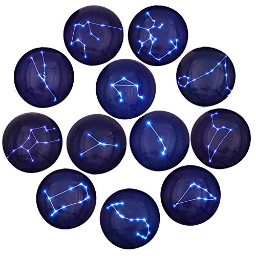 12 Constellation Series Fridge Magnets Beautiful Glass Creative...