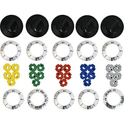 KN002 for Universal Electric Range Oven Knob Handle Kit Color Black