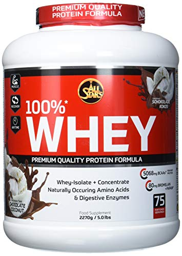 All Stars 100% Whey Protein, Chocolate-Coconut, 1er Pack (1 x 2270 g)