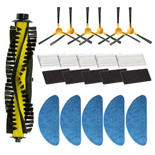 SANKUAI Pennello Laterale + Filtro + MOP + Pennello a rulli per N-E-A-T-S-V-O-R X500 / X600 Aspirapolvere del Robot Kit di Ricambio (Colore : C)