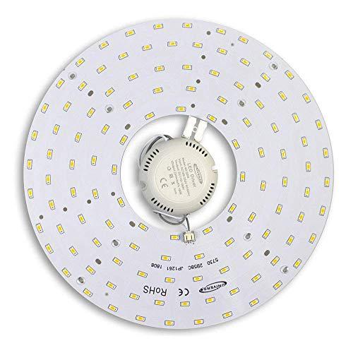 Vetrineinrete Circolina corona led 2835 modulo circolare di ricambio neon per plafoniere luce calda 3000 k 46 watt 265v ultra luminoso A86