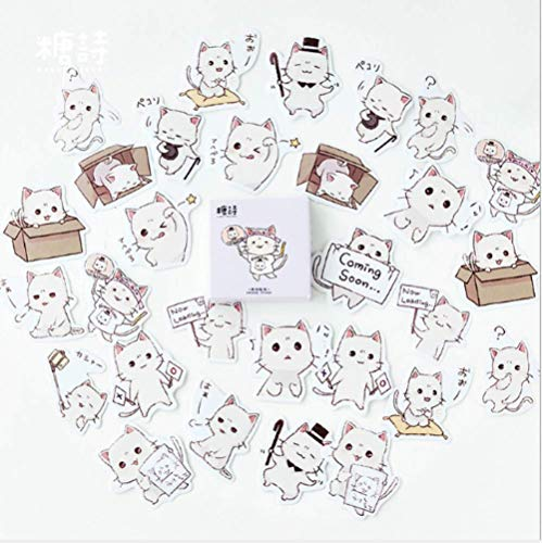 DSSJ Selling Cute Meow Sauce Boxed Stickers Stickers Hand Account Album Items Decoration Sealing Stickers Diy 45Pcs