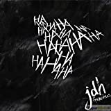 SUPERSTICKI Hahahahaha Joker ca 20cm Auto Aufkleber Bike Motorrad Fun Tuning Decal aus Hochleistungsfolie Aufkleber Autoaufkleber Tuningaufkleber Hochleistungsfolie für alle glatten...