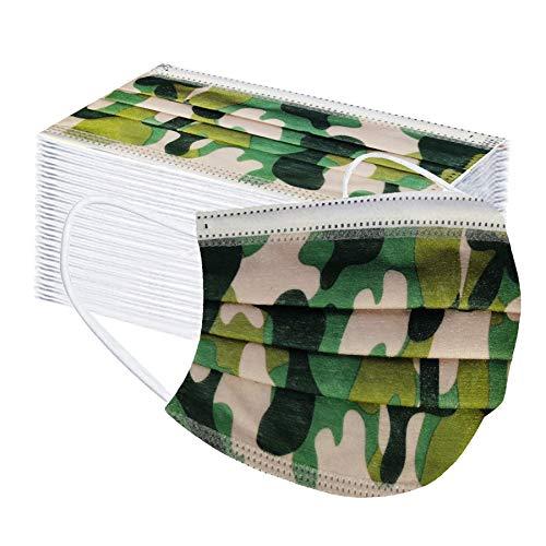 skiyy 50 Piezas Adulto Protección 3 Capas con Elástico, Impresión...