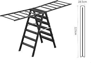 Step stool Floor-standing Dual-purpose Aluminum Alloy Folding Gold Herringbone Ladder, No Need To Install Design, Bearing ...